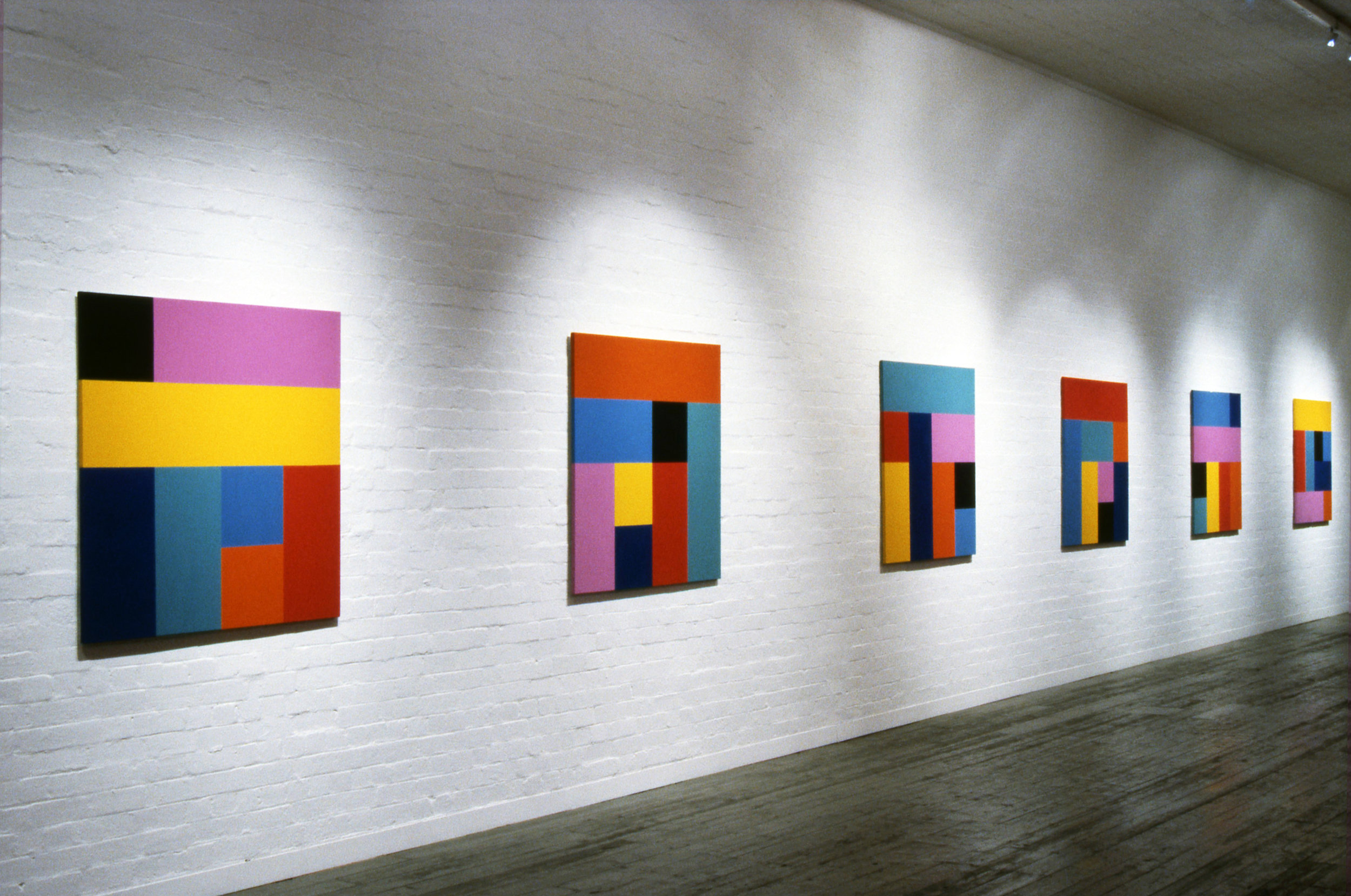 Sunrise, 1993, Synthetic polymer paint on canvas, 122 x 122cm, City Gallery, Melbourne.