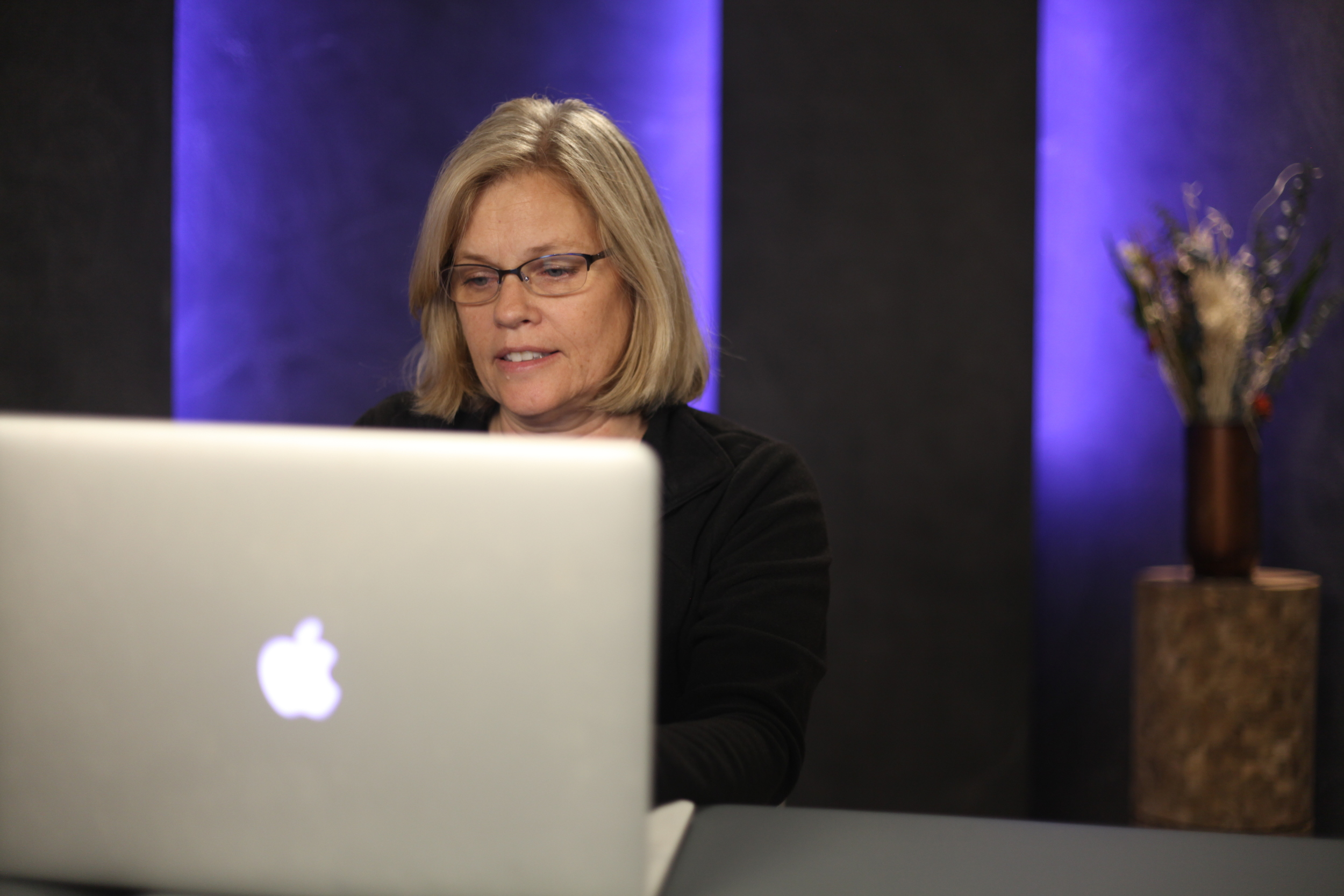 Debra conducting a live online training.