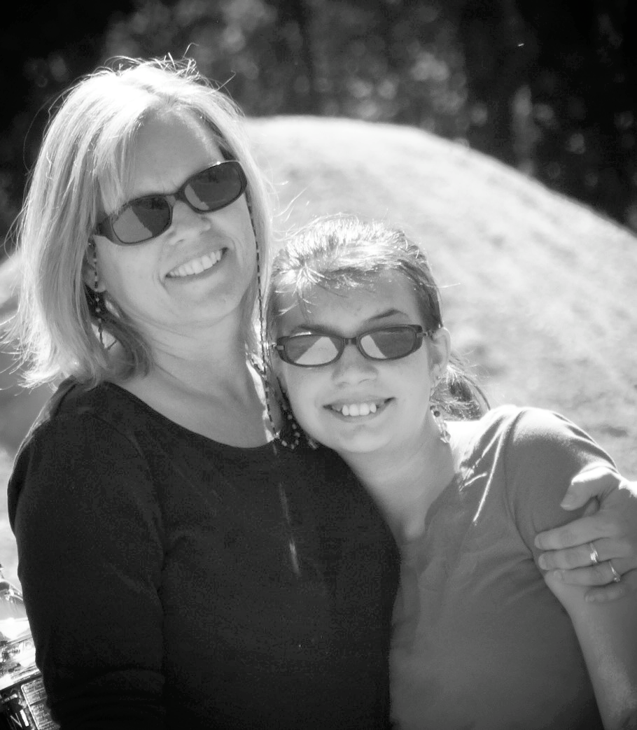 Debra and Shalea sharing a hike and a hug.