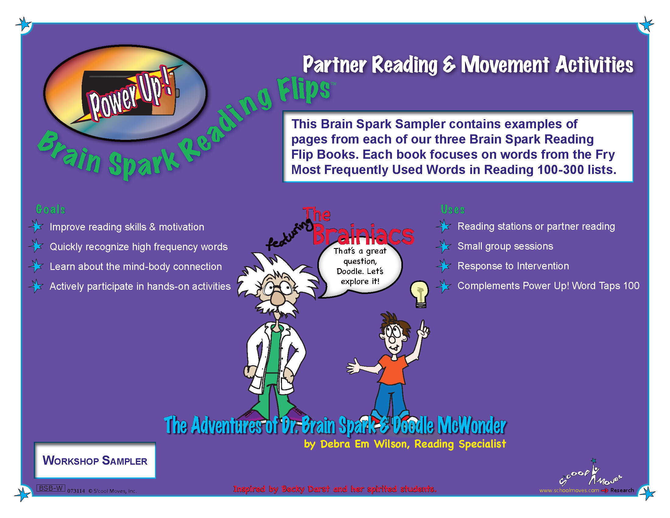 Reading Movement Cards 100 PDF, First Grade, 20 Different Instant Online  Activities, 12.2 MB File — S'cool Moves, Inc.