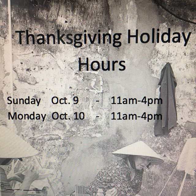 Happy Thanksgiving! We are open today and tomorrow 11am-4pm.