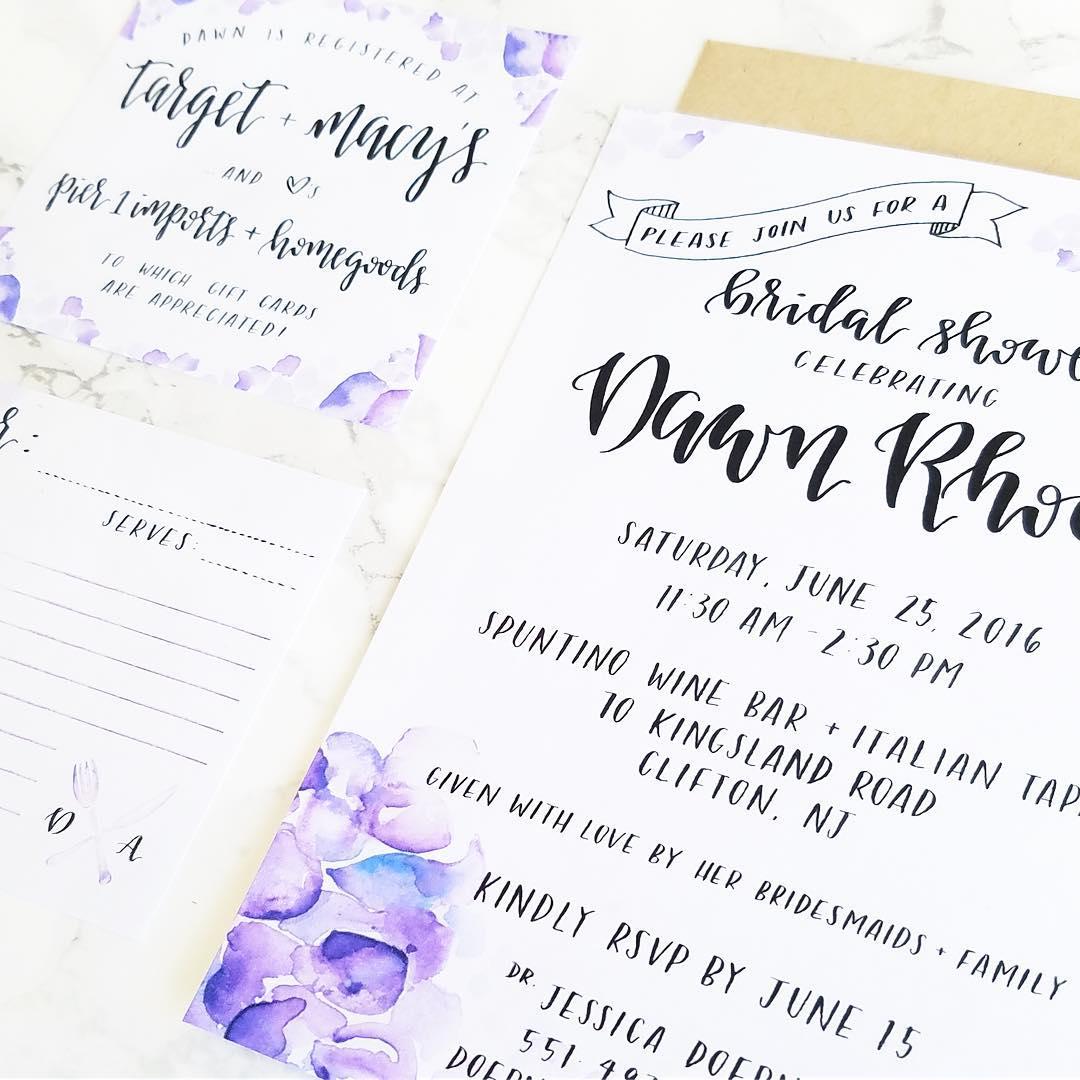 Bridal Shower - Invitation Design