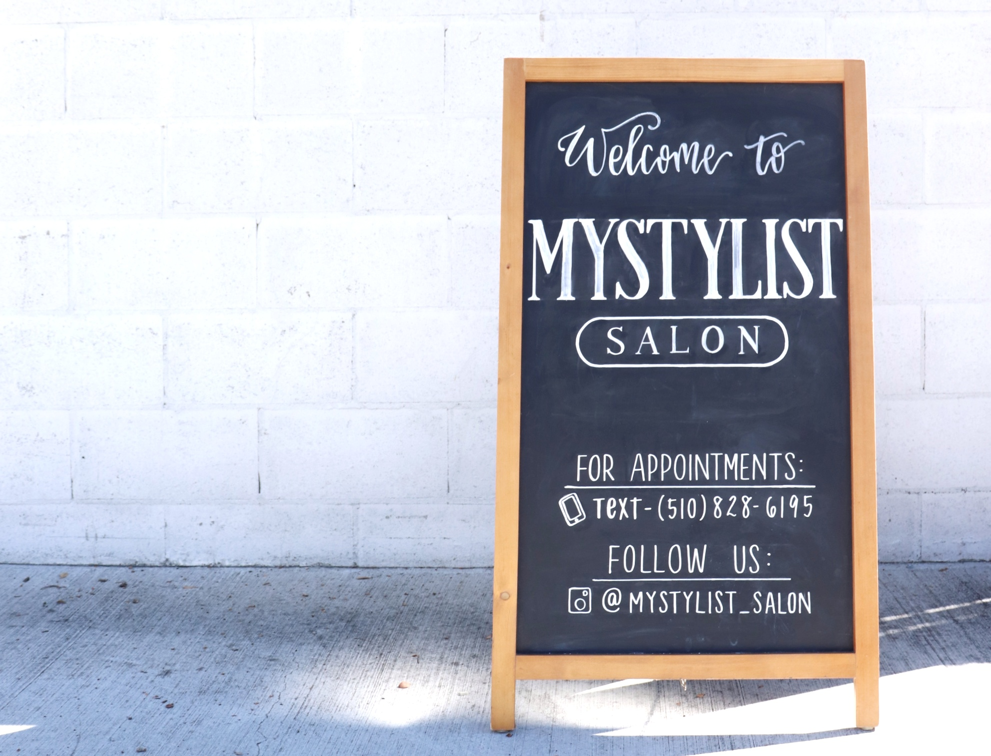 My Stylist Salon - Chalk Signage