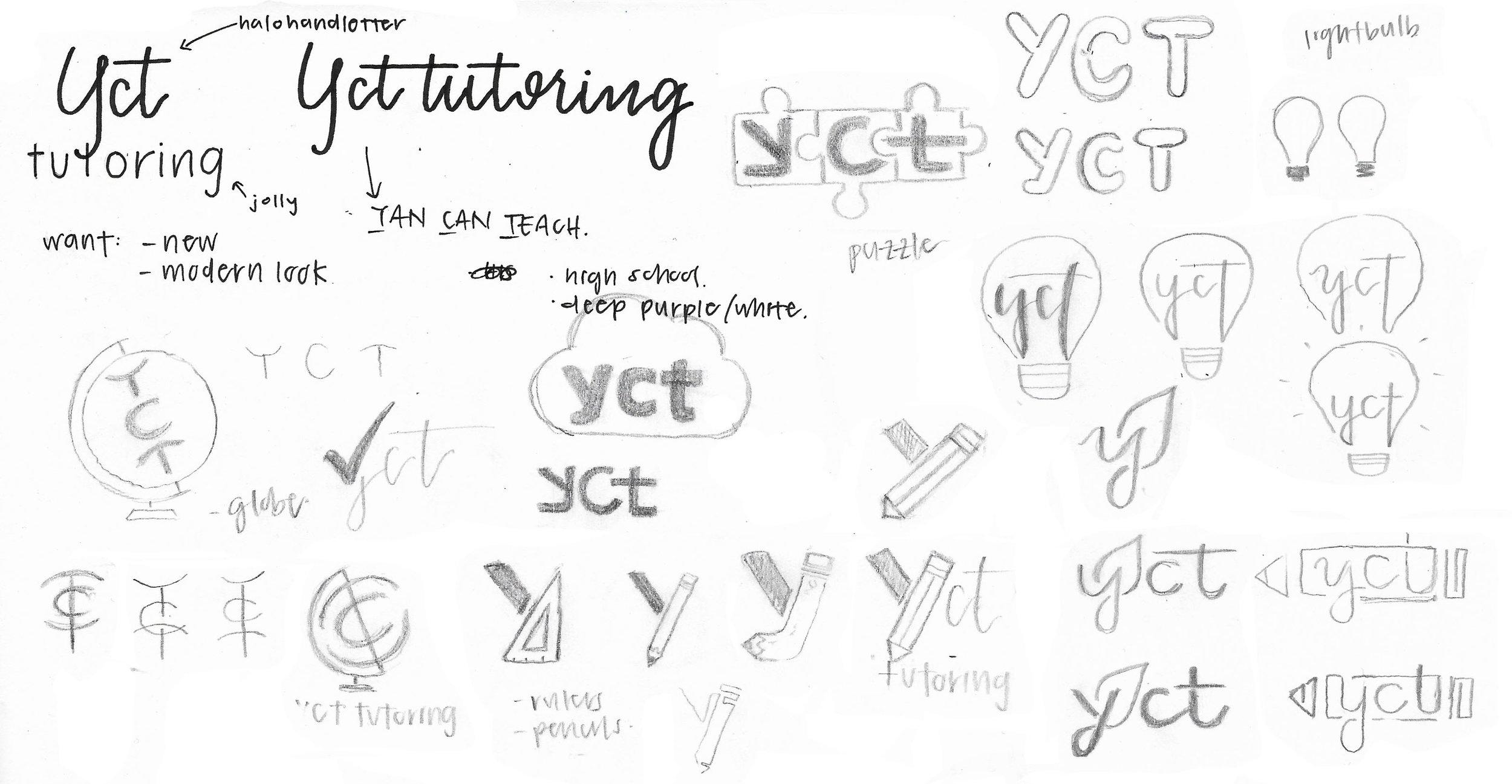YCT Tutoring - Logo Sketches