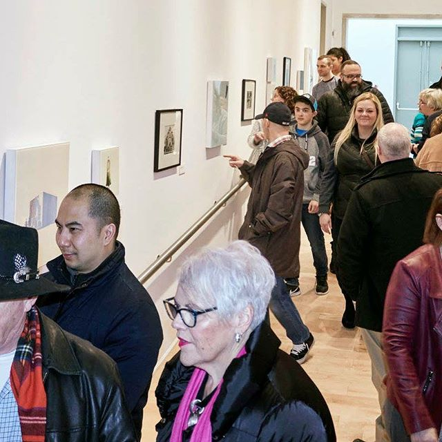 Blessed today, many supporting friends attended my opening and talk at the gallery.  All of whom made the choice to put aside their own lives in the idea of art and culture.  Im honoured all wishing to witness a very special moment for me and see what ive been up to.  Many came from afar in bad weather, Sunderland, Oakville, Newmarket, Enniskillen, Scarborough, Clarington... It goes very much noticed. This show was conceived two years ago and i want to particularly thank the following: Thank you Sonya Jones and the Robert McLaughlin Gallery for having me into your gallery. Thank you Steven Frank for your video work and support/enthusiasm for local artists.  Thank you Steve De Taeye for your awesome soundscape track. Thank you to Trisha Bower of Eat My Shortbread for the ridiculous treats.. Thank you to my family and particularly Donna and Ron Masterson for their unique support and contribution to this show.  Thank you thank you!!! Xxxoo
