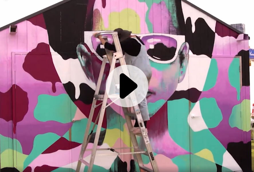 play time lapse of shannon crees' mural