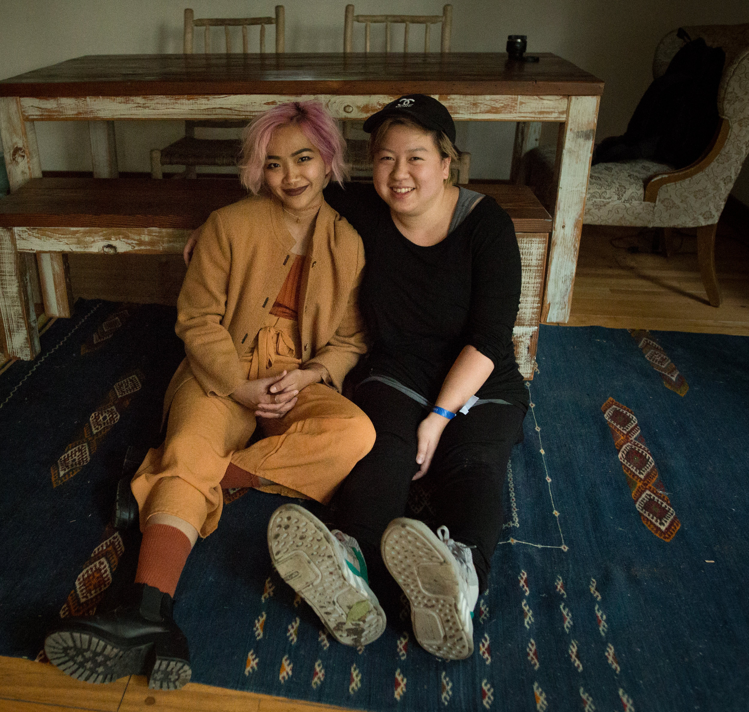chilling like villains: nenci (left) and her collaborator Leviathe (right)  photography by tiffany leah chung ( @tiffanyleahchung )