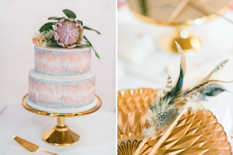Olivia & Levi's modern geo wedding - Featured on Wedshed
