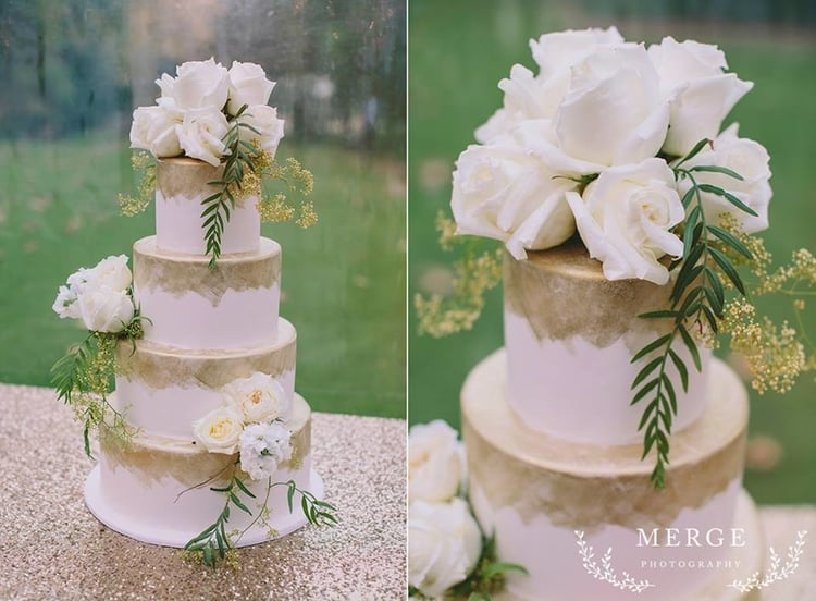 gold-glitter-wedding-cake-lamonts-bishops-house