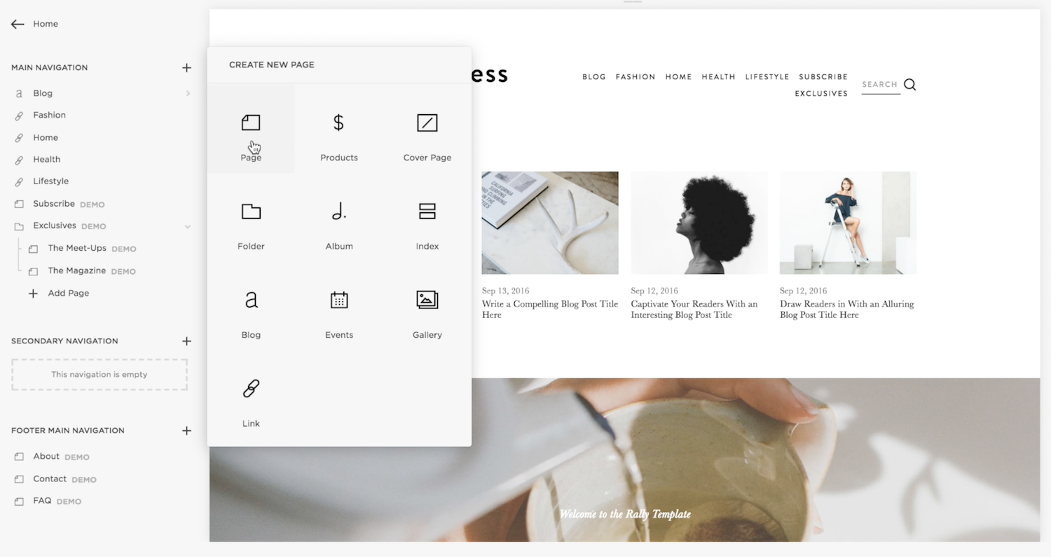 Get started with Squarespace