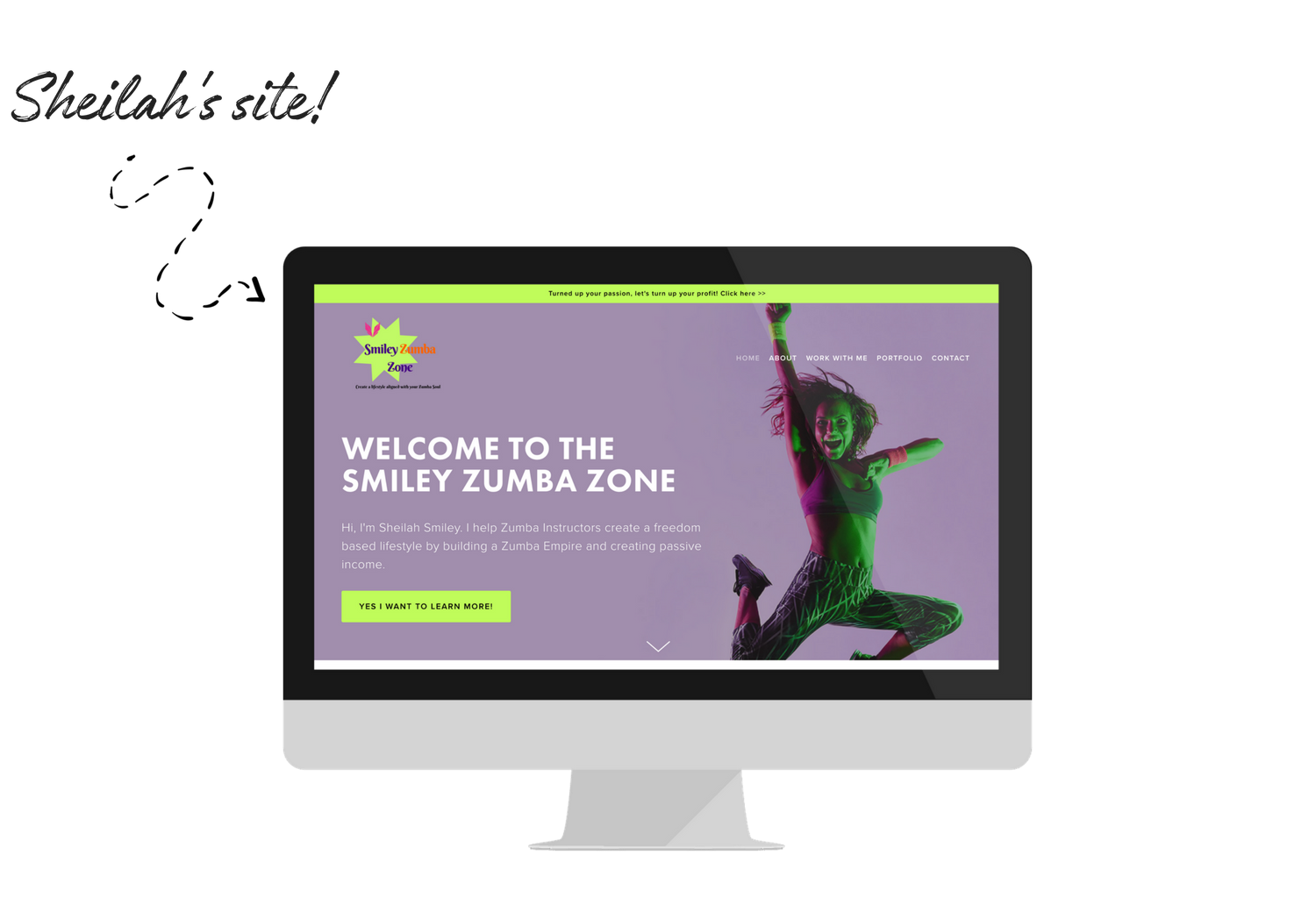 Sheilah created her Squarespace website from scratch, with no experience, using the best Squarespace online course, Website that Wows.