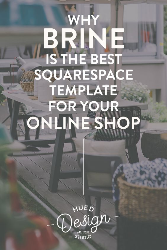 Why Brine is the best Squarespace Website