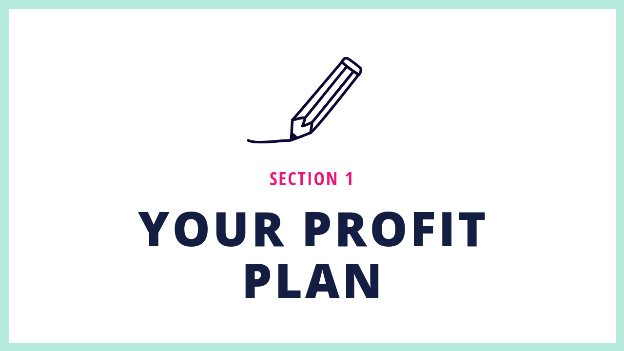 Section 1 of this Squarespace Online Course teaches you how to create your website profit plan.