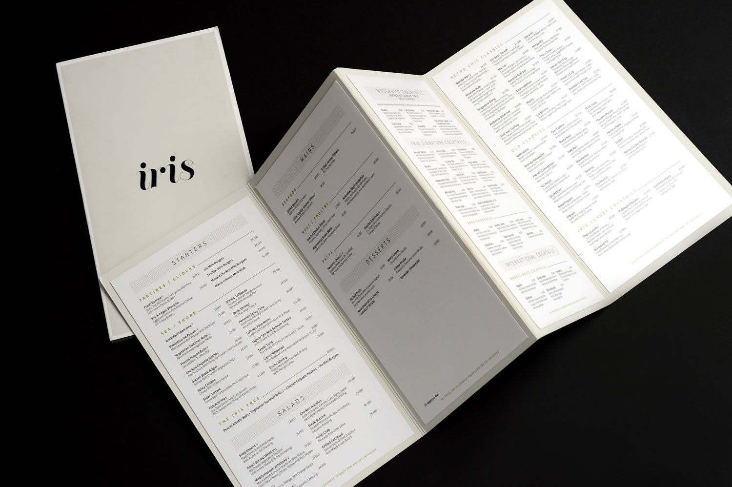 iris Beirut food drink menu