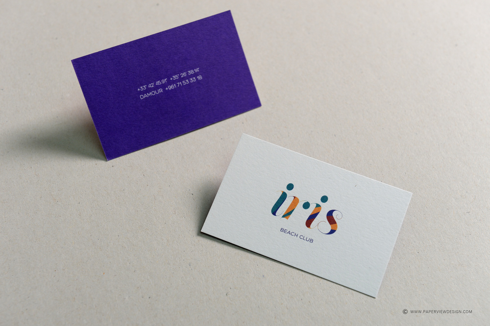 Iris Beach Club Business Card