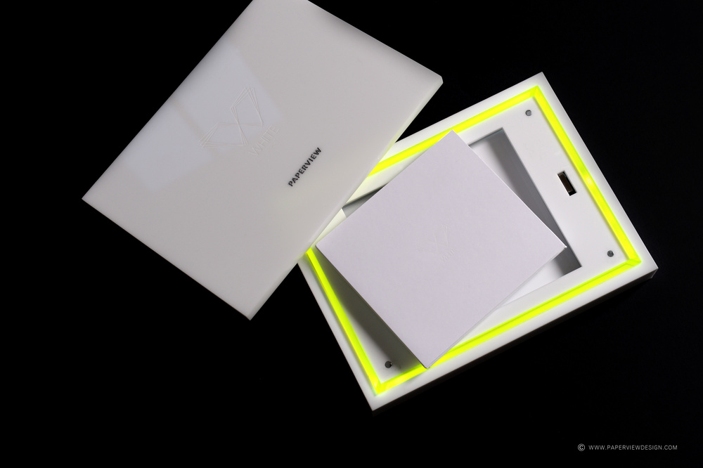 White Beirut - Dubai Cd Box with Neon Sides