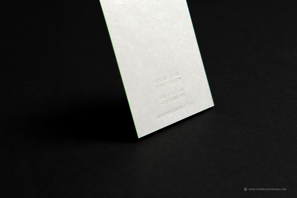 White Beirut - Dubai Business Card Back Information