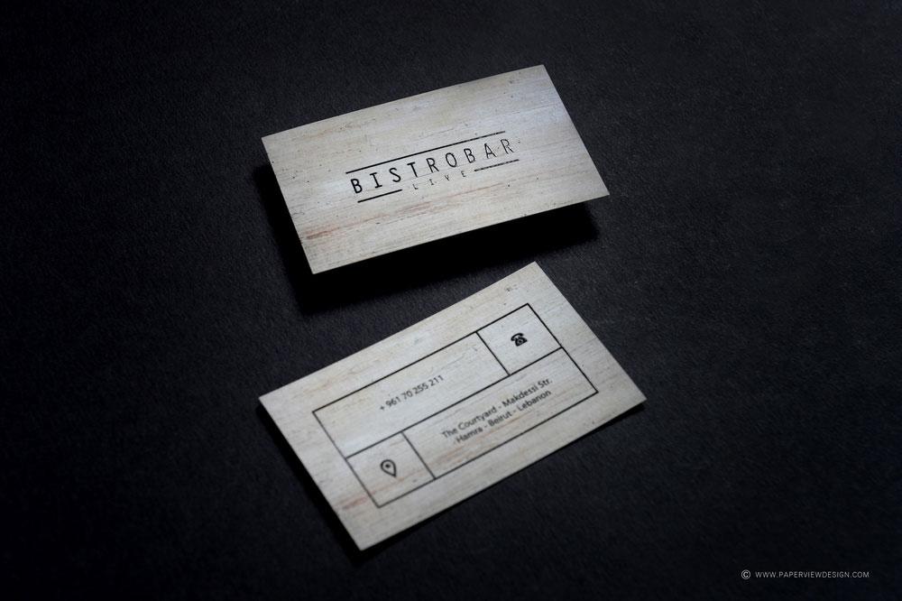 Bistrobar Beirut Business Card