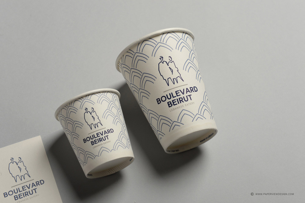 Boulevard Beirut Paper Cup Two Sizes