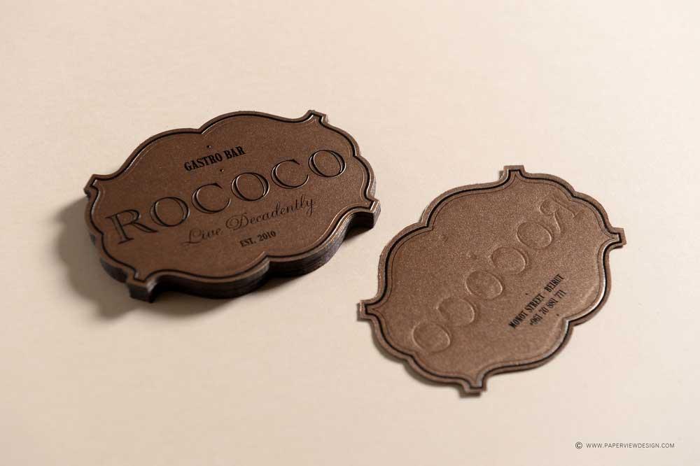 Rococo Gastro Bar Business Card