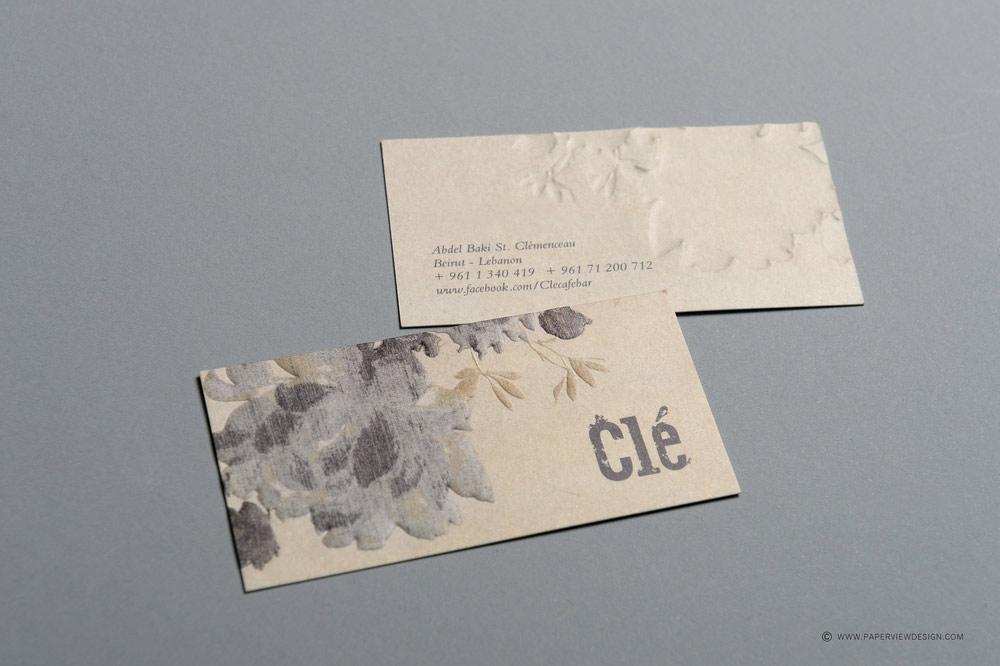 Cle Bar Beirut Business Card
