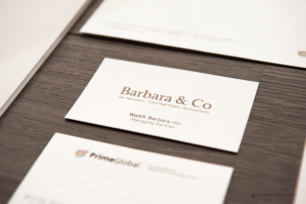 Barbara & Co Beirut Business Card