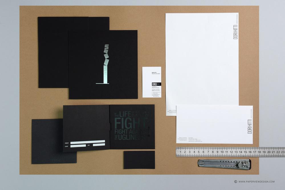 Dori Hitti Architect Designer Stationary Branding Top View