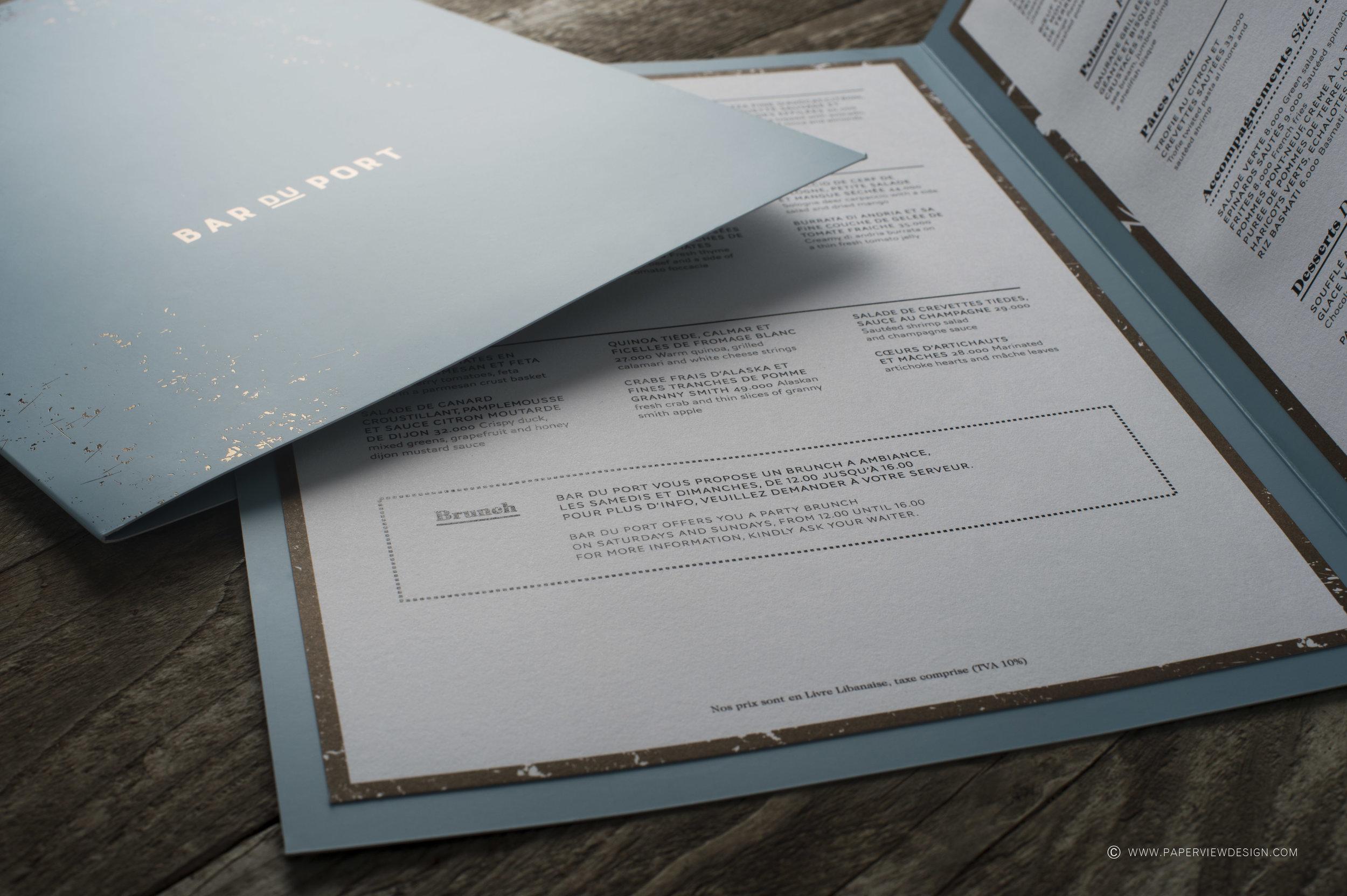 Menu-Art-Design-Branding-Layout-Inside-Sheets-Paper-Foil-Bar-Port-Dots-Beirut-Dubai-Brunch