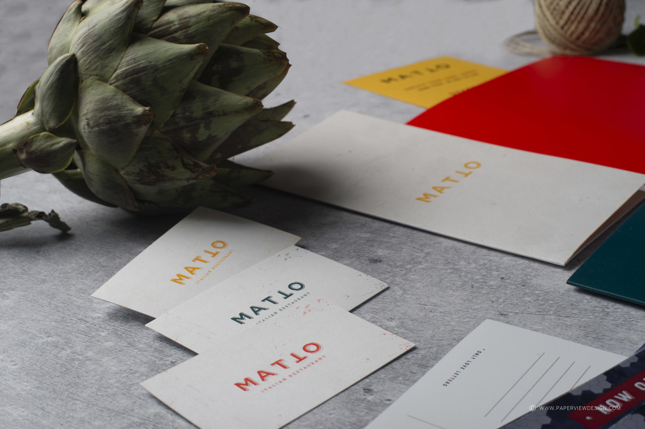 Matto-Crazy-Awesome-Artichoke-Business-Cards-Concrete-Texture-Yellow-Red-Mood-Art-Design