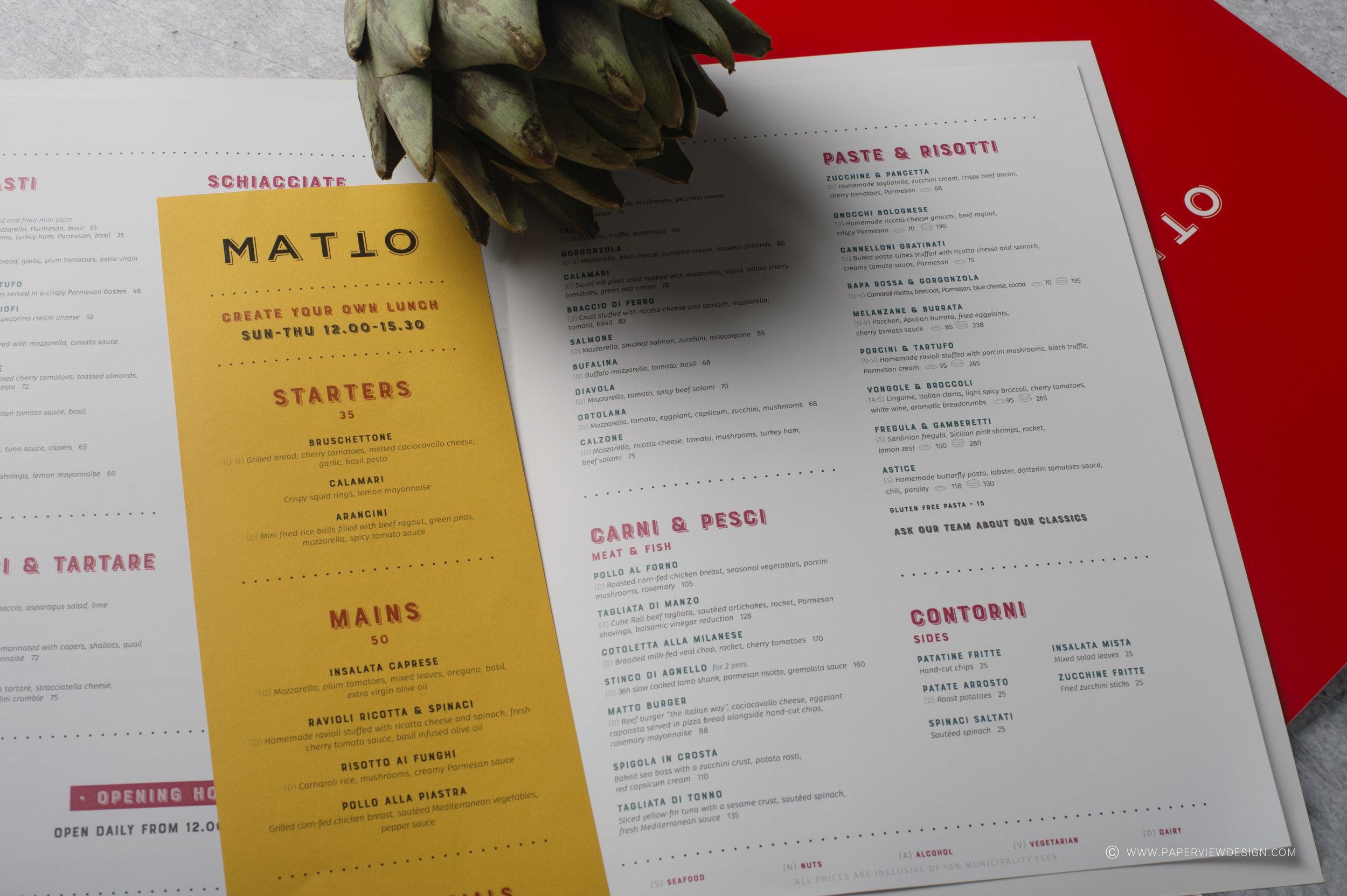 Matto-Inside-Sheets-Menu-Yellow-Pasta-Design-Art-Branding-Restaurant