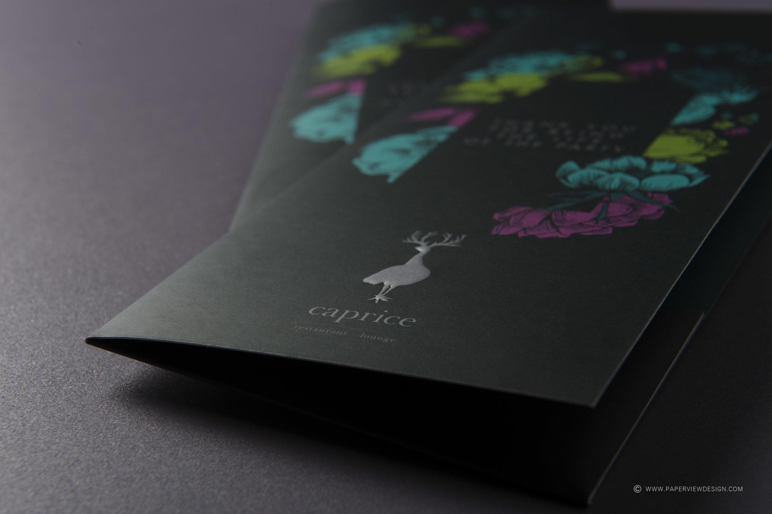 Embossing-Logo-Design-Hot-Foil-Flowers-Colors-Bill-Holder