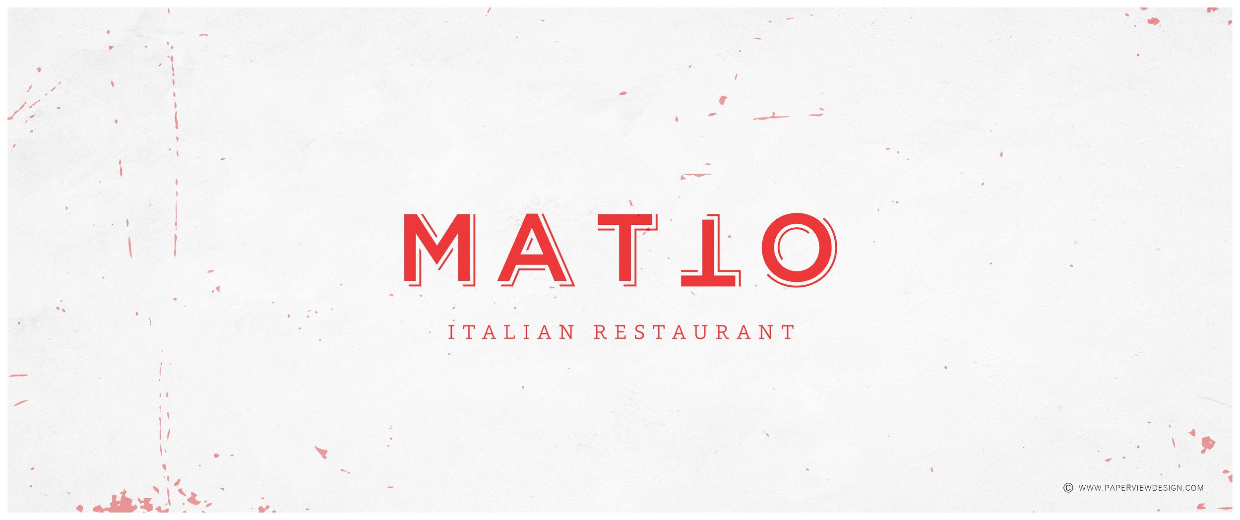 Logo-Red-Design-Texture-Concrete-Matto-Italian-Cuisine-Kitchen-Restaurant