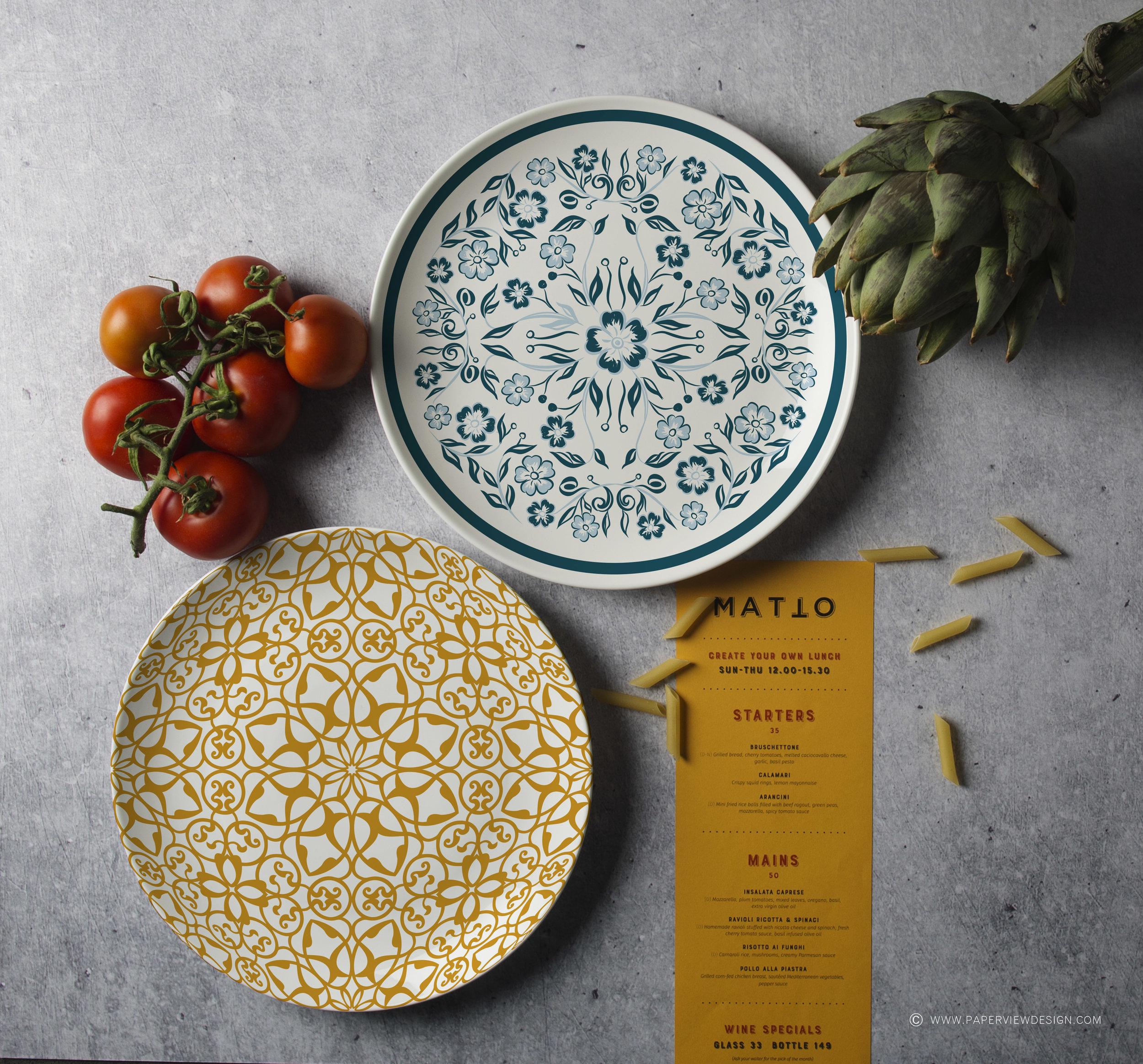 Plates-Desing-Mood-Colors-Pasta-Yellow-Concrete-Textures