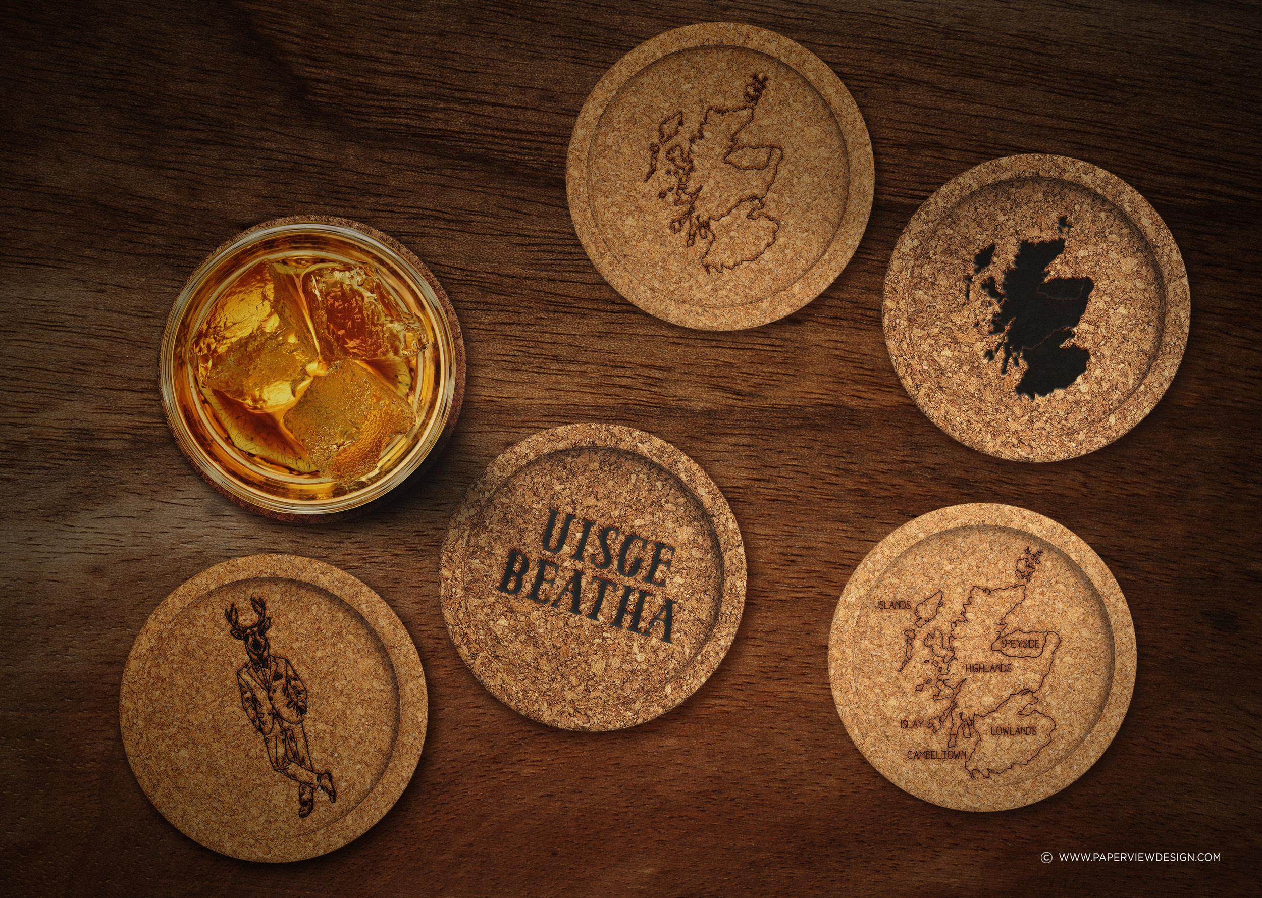 Makar-Restaurant-Scottish-Coasters-Design-Identity-Branding