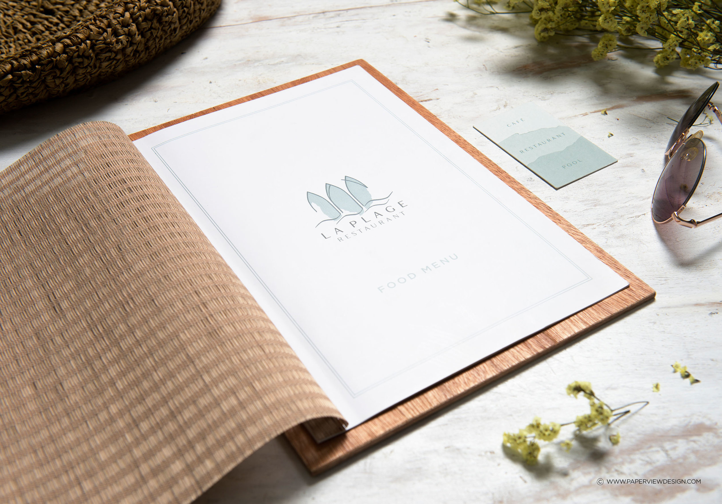 LaPlage-Menu-Identity-Logo-Wood
