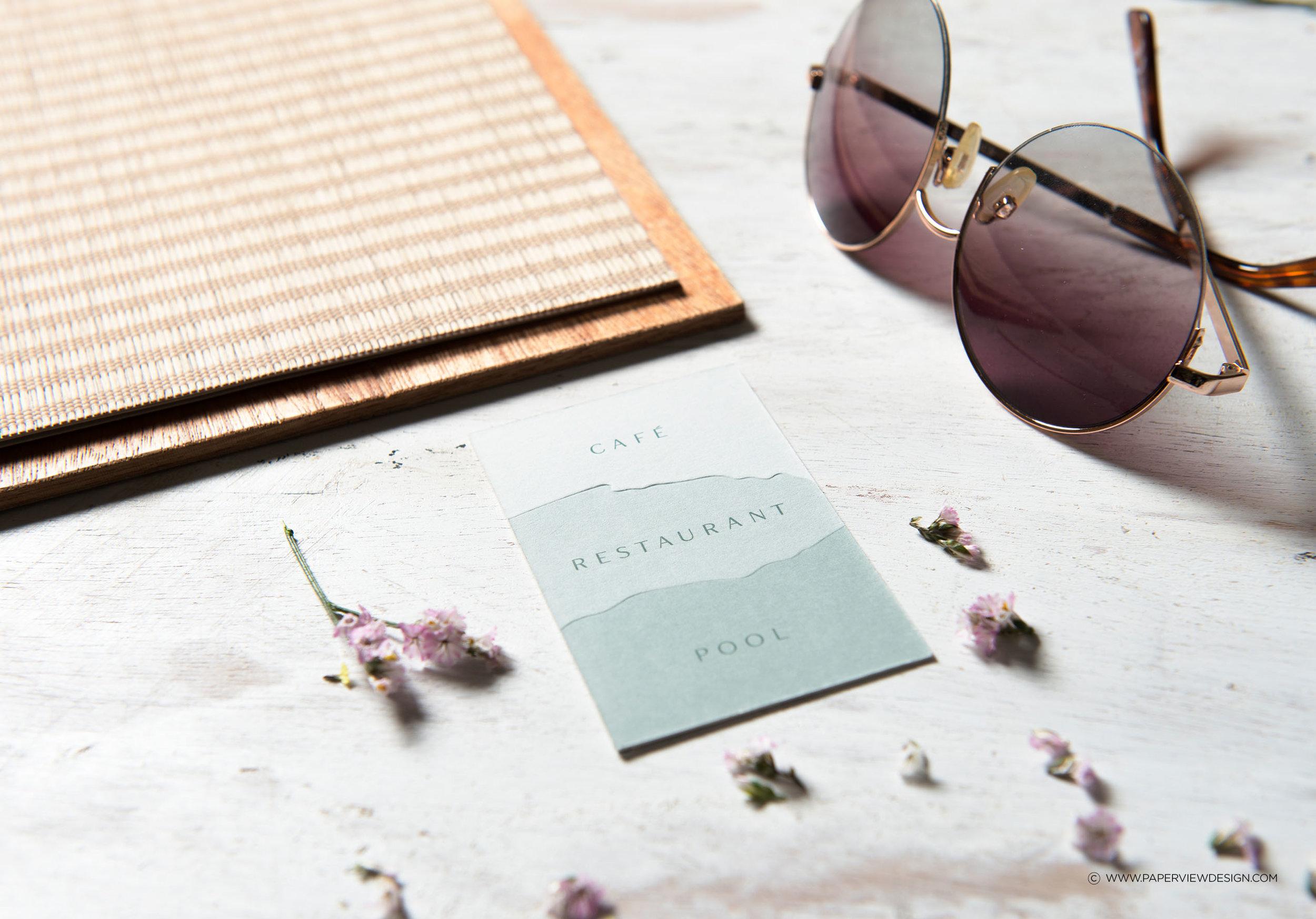 LaPlage-Identity-Logo-Wood-Business-Card-Embossing