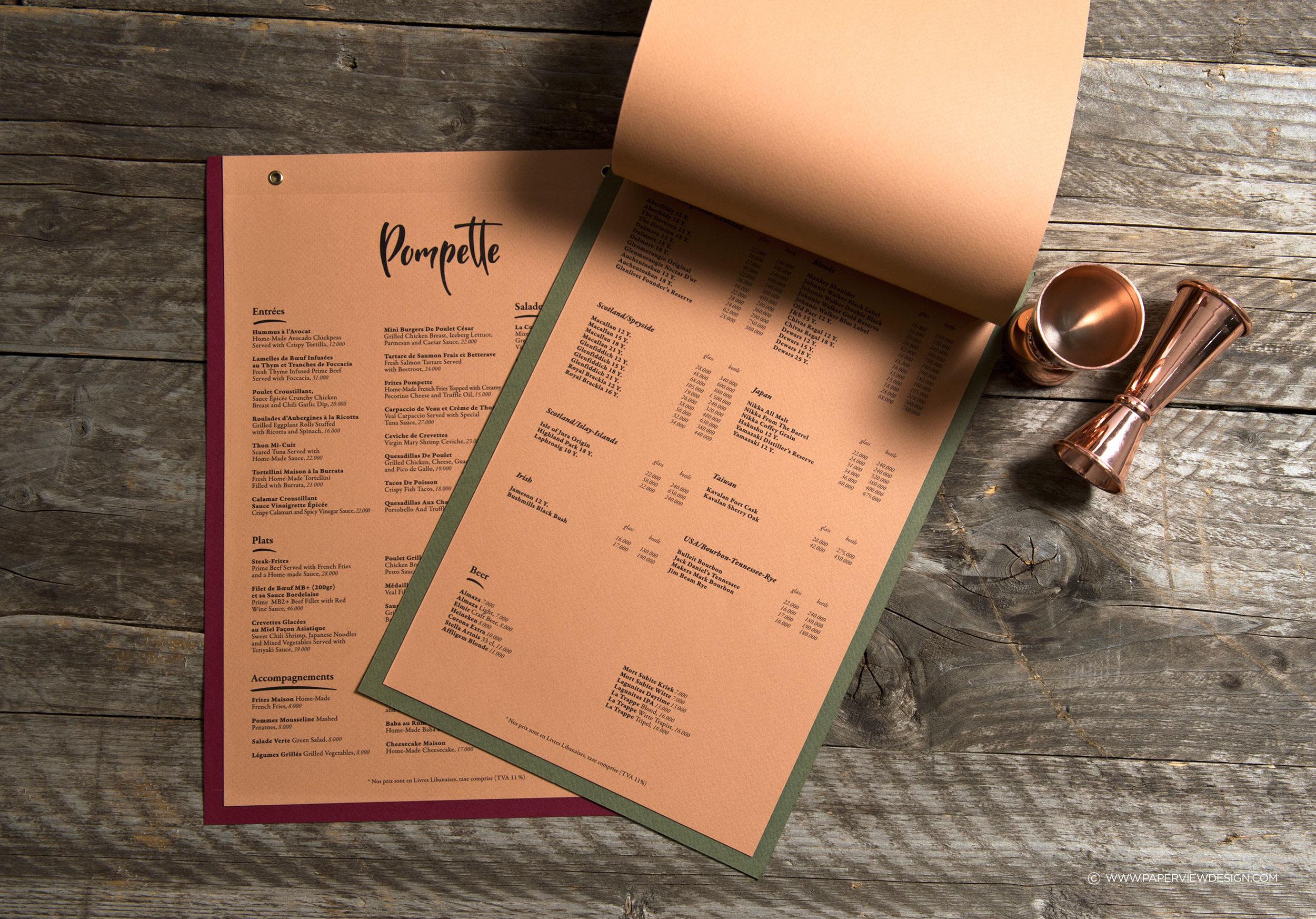 Pompette-French-Bar-Restaurant-Food-Beverage-Menu-Logo