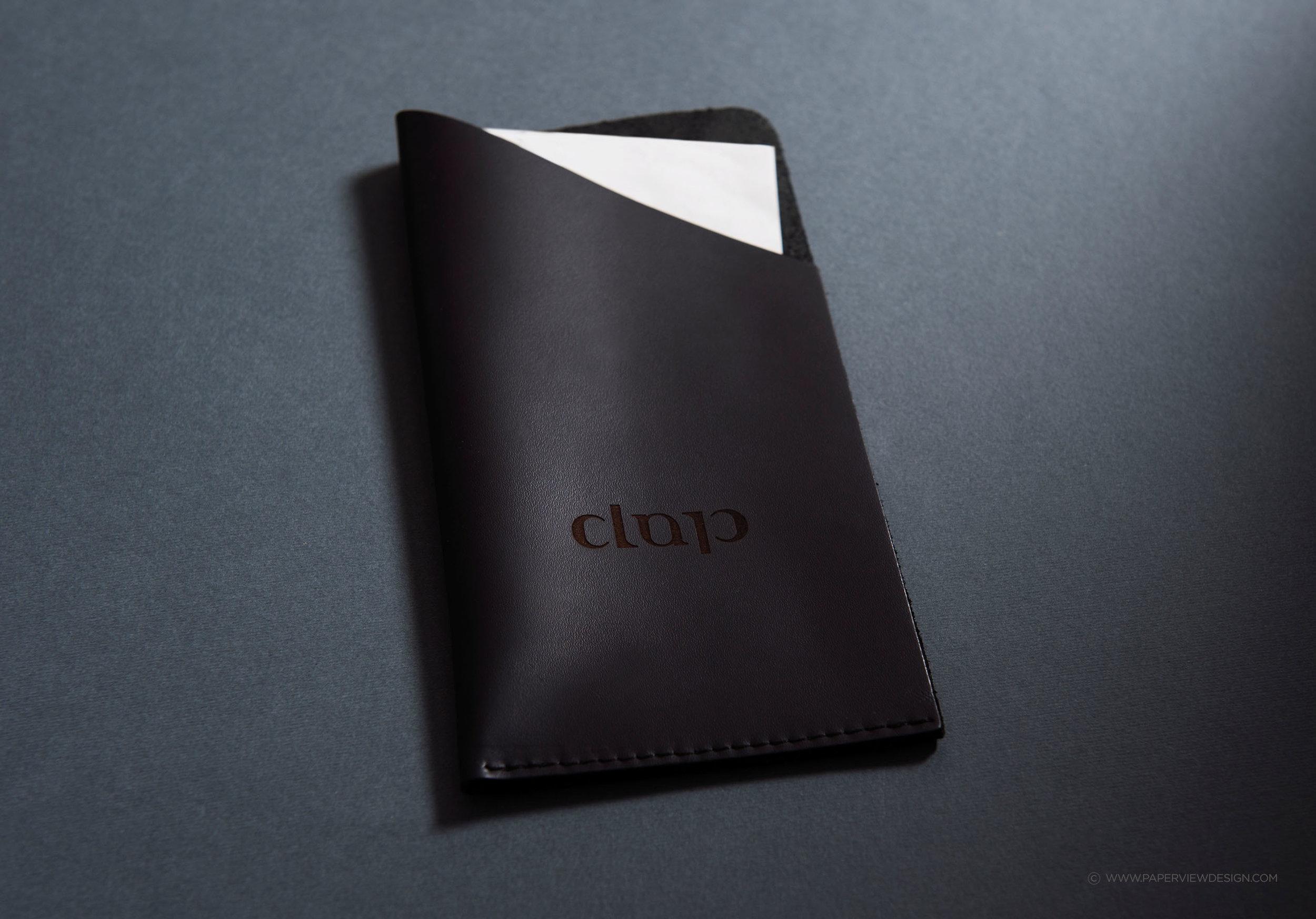 Clap-Japanese-Contemporary-Cuisine-Bill-Holder-Identity-Branding