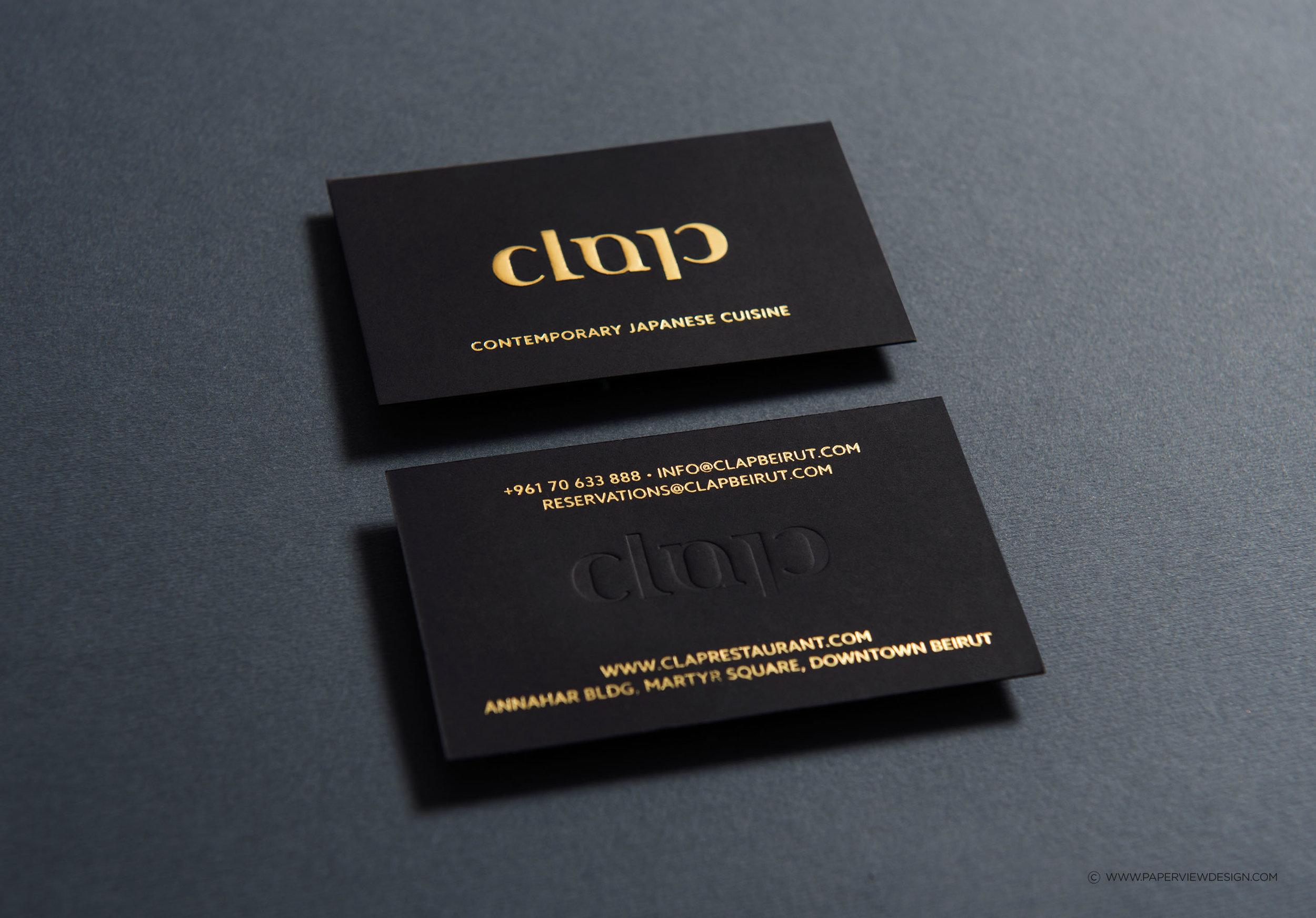 Clap-Japanese-Contemporary-Cuisine-Business-Card-Identity-Branding
