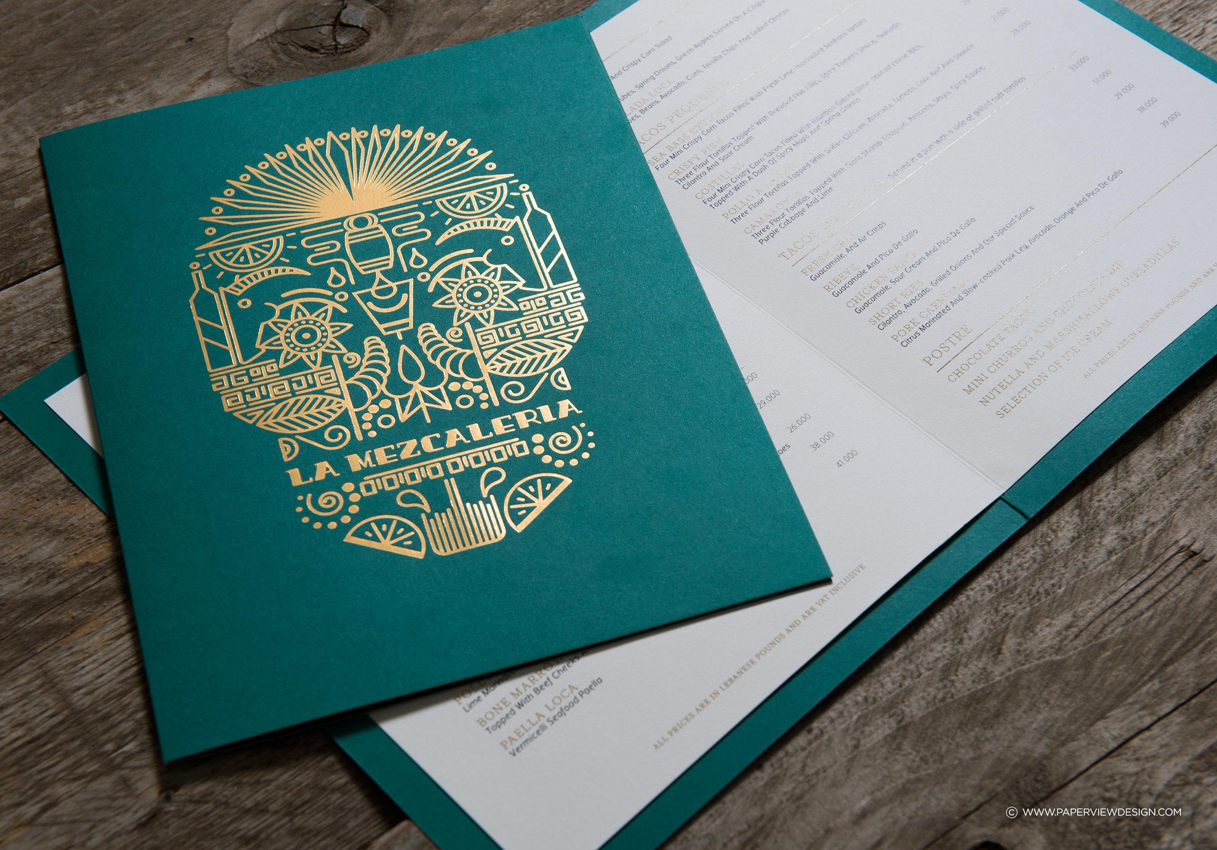 LaMezcaleria-Identity-Branding-Mexican-Bar-Restaurant-Skull-Illustration-Menu-Inside-Sheet-Food