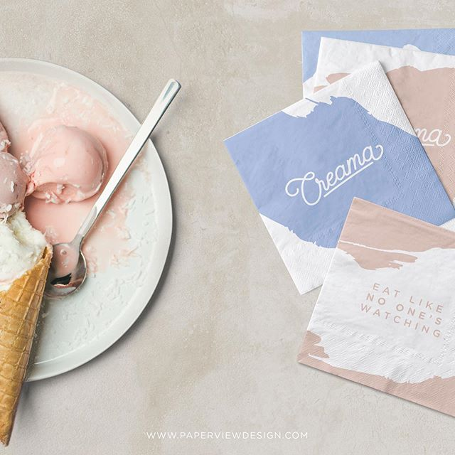 We are so in love with @creama.kw we have been unable to contain ourselves!  Coming to us with the most delectable creamy silky ice cream, we were asked to brand an package it and with such creamy perfection there was no other visual way to go. Creamy colours and textures were used all over the boxes and identity to hopefully match up the heavenly icecream that is in the box! • • We love @creama.kw  You can find out more about their flavours and items on their Instagram page. • • • #kuwait #instagram #icecream #pastel #sweet #packaging #branding #brandidentity #logo #hungry #packagingdesign #packagingideas  #paperview #identity #creama