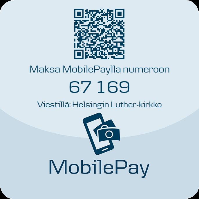 MobilePay-lahjoittaminen - MobilePayn käytön aloittaminen Palvelun käyttöön tarvitset vain älypuhelimen (Android, iOS tai Windows Phone), suomalaisen matkapuhelinnumeron, suomalaisen pankkitilin ja suomalaisen maksukortin.1. Lataa MobilePay AppStoresta, Google Playsta tai Windows Storesta.2. Valitse 'rekisteröidy' ja seuraa ohjeita. Rekisteröintiä varten tarvitset suomalaisen pankin tilinumeron ja maksukortin. Tunnistautumalla pankkitunnuksillasi, saat käyttöösi suuremmat käyttörajat.3. Valitse henkilökohtainen nelinumeroinen tunnusluku, jolla kirjaudut MobilePayhin. Voit kirjautua myös sormenjäljelläsi, jos puhelimessasi on sormenjälkilukija.MobilePay on maksuton kaikkien pankkien asiakkaille. Käyttääksesi MobilePaytä sinun tulee olla yli 15-vuotias.Voit lähettää 100 euroa vuorokaudessa. Nostaaksesi rajan 500 euroon päivässä, sinun tulee tunnistautua suomalaisen pankin myöntämillä pankkitunnuksilla.
