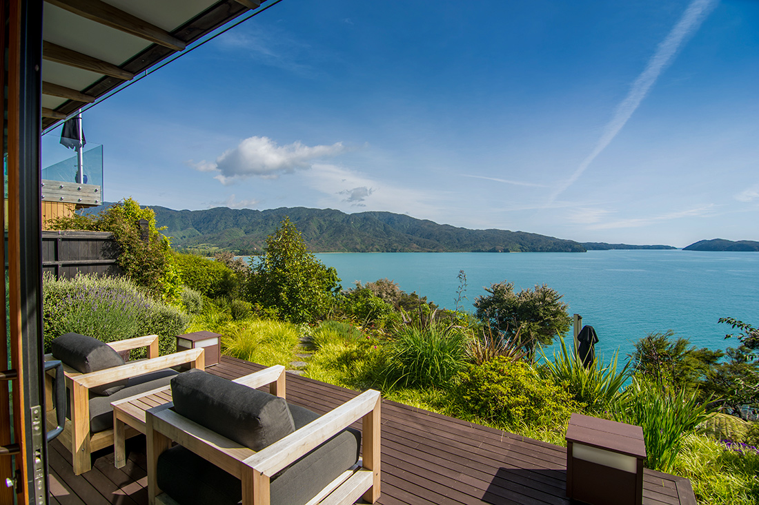 One of two private terraces with sweeping ocean views