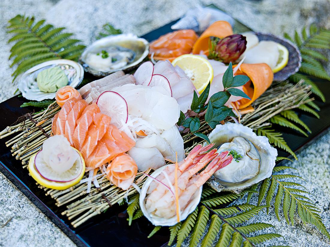 Sashimi of fresh local fish