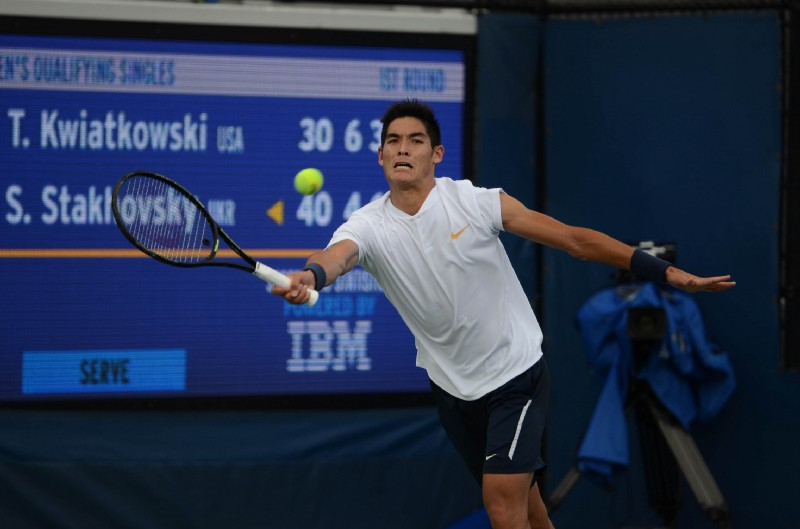 Thai-Son Kwiatkowski is a former NCAA singles champion from the University of Virginia (Noel Alberto/VAVEL USA)