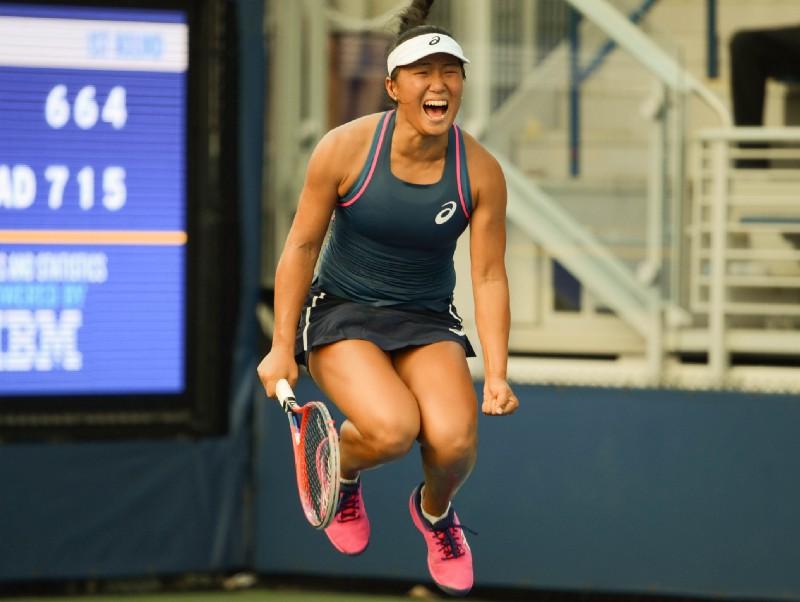 Claire Liu is a former Junior Wimbledon champion (Noel Alberto/VAVEL USA)