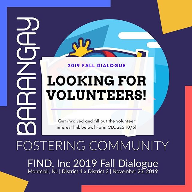 Want to do more than just attend this year's Dialogue? Become part of the hype and get involved in FIND, Inc.'s first ever Dialogue district collab by volunteering! Fill out the volunteer interest link in our bio! Form closes 10/5. https://forms.gle/31UtT41WEu84s1i86
