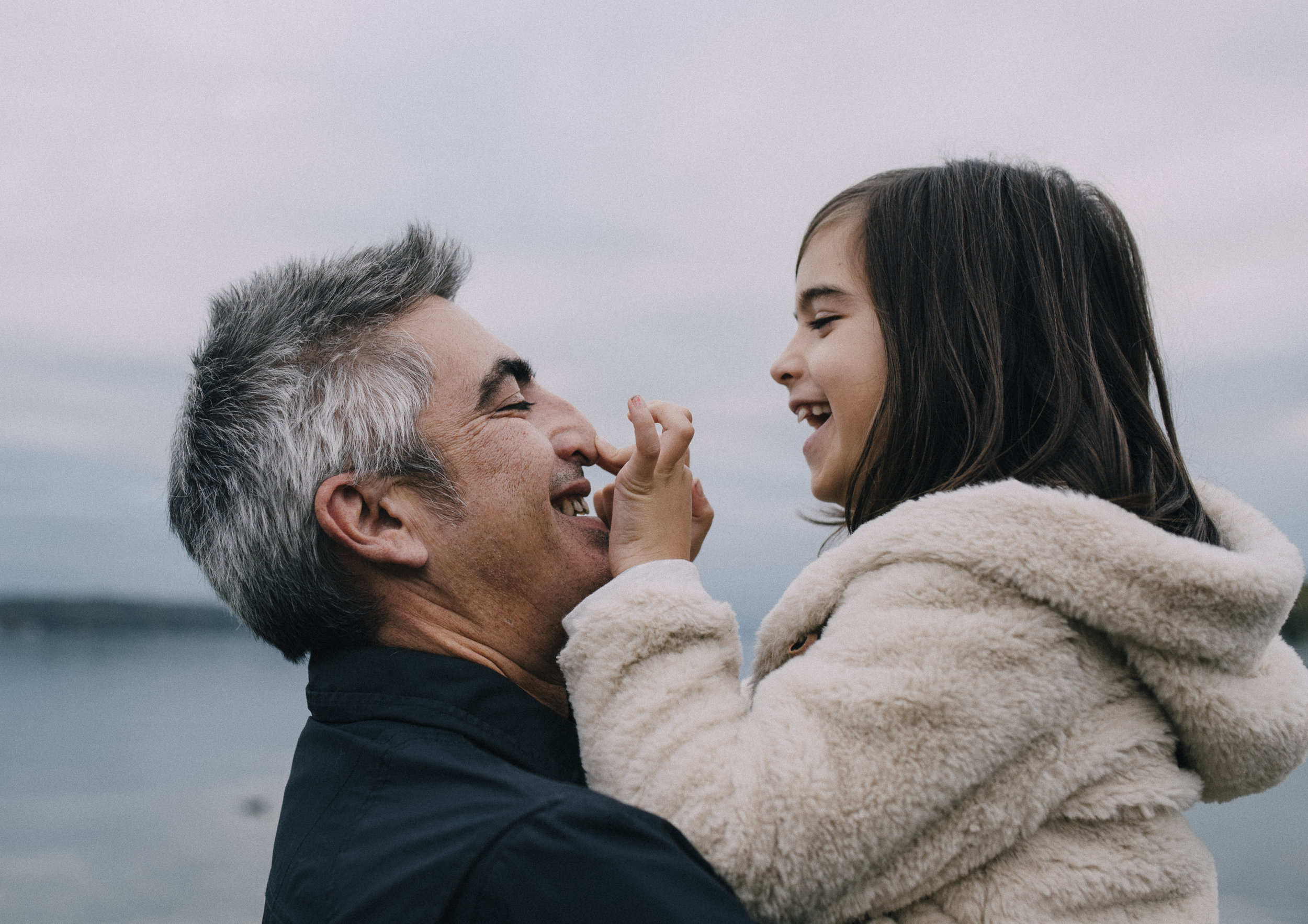 Father and daughter sweet moment