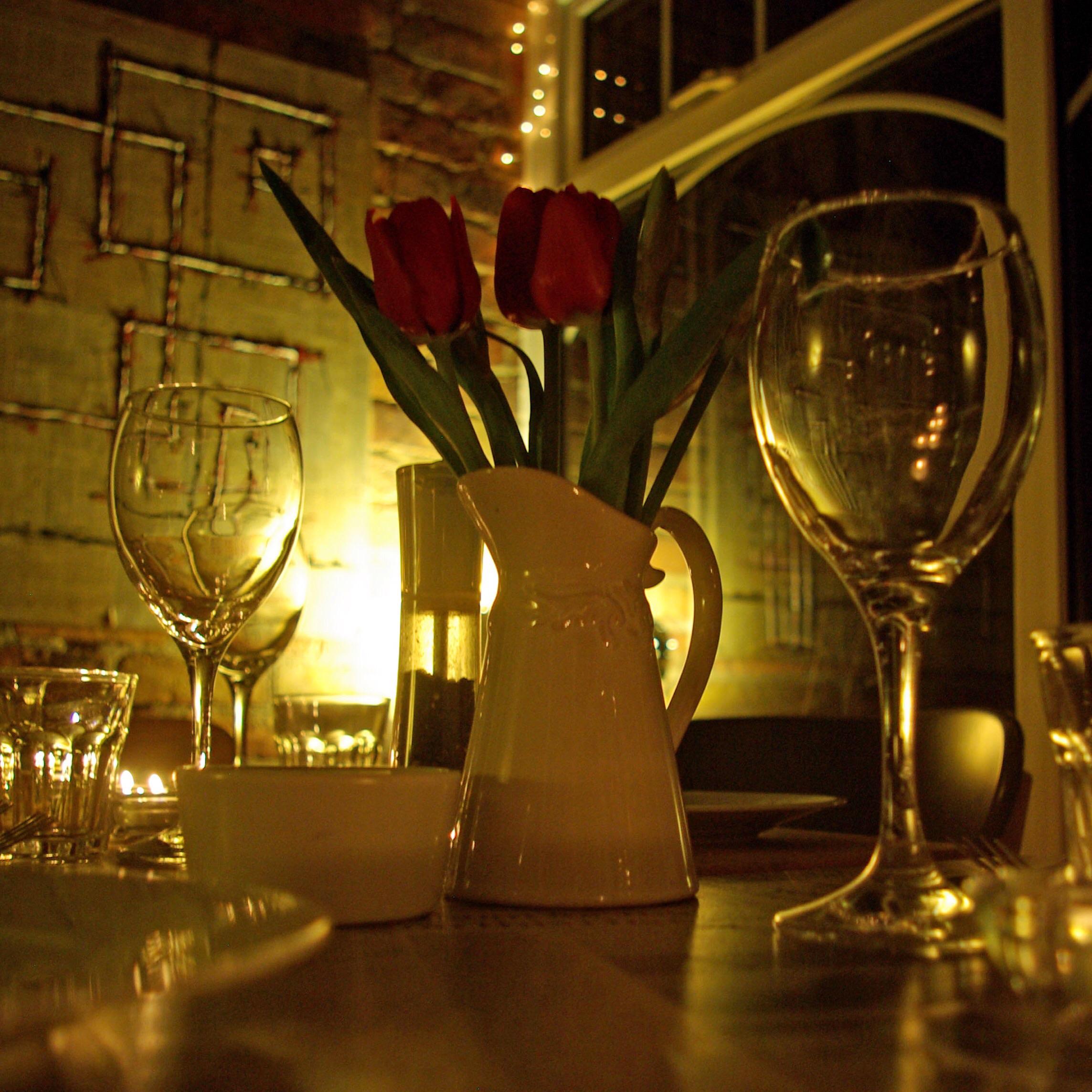 Valentine's Dinner Romantic Setting