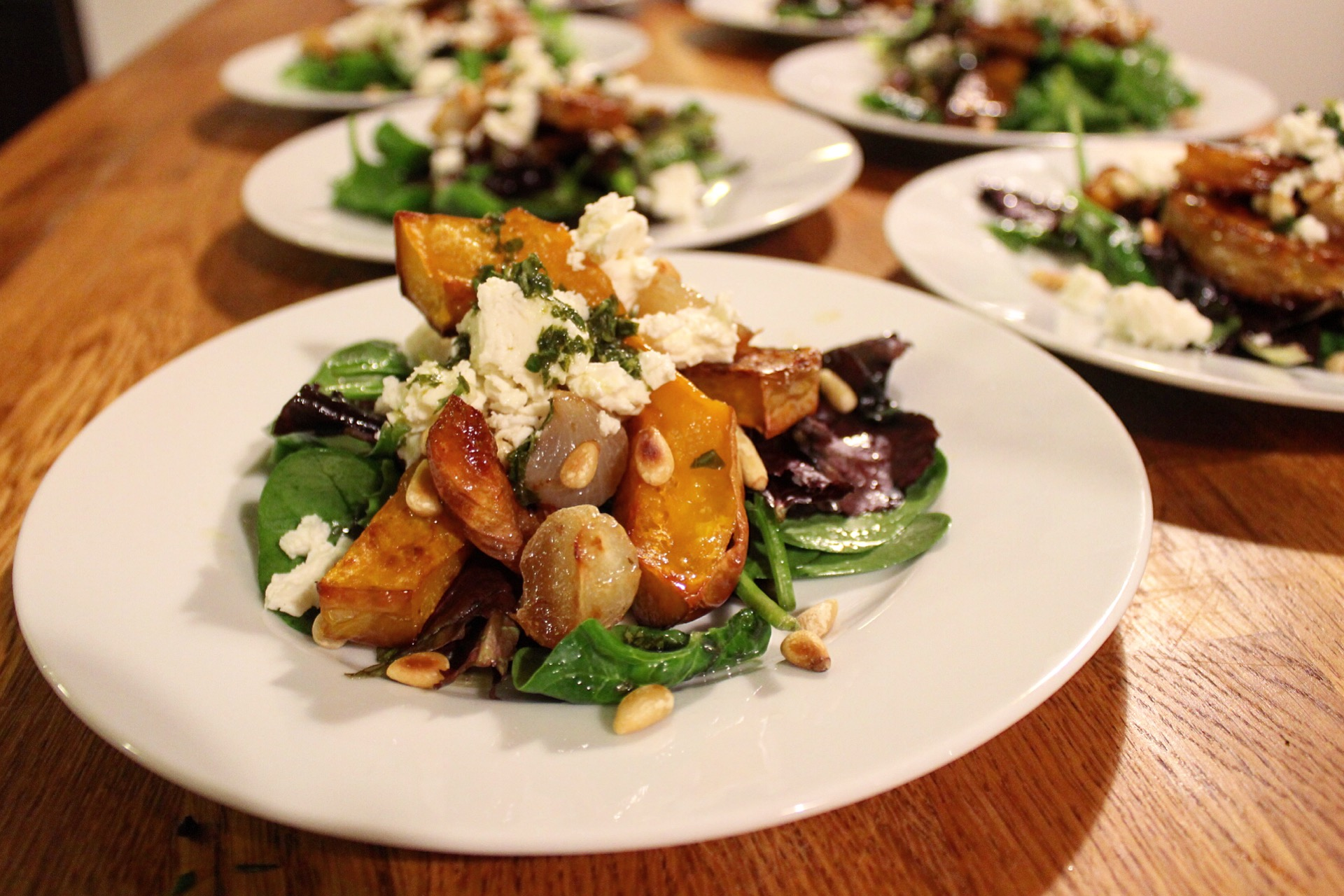 Squash and shallot salad